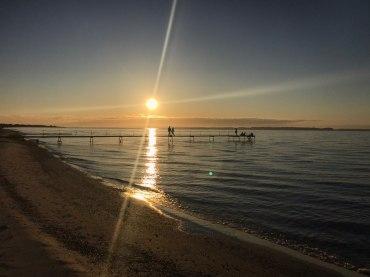 blog strand solnedgang